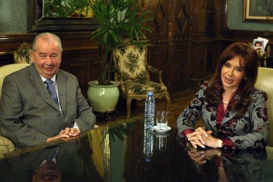 Durante una reunión con la Presidenta en su despacho el 13 de agosto de 2009. Foto: Archivo / Fabián Marelli / LA NACION