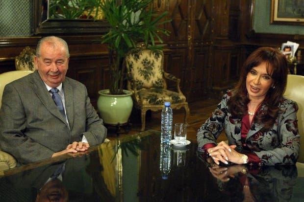 Durante una reunión con la Presidenta en su despacho el 13 de agosto de 2009.  Foto:Archivo /Fabián Marelli / LA NACION