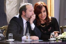Martín Sabbatella, presidente del Afsca, y Cristina Fernández