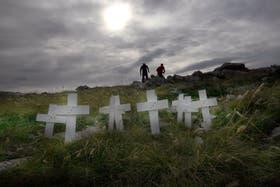 Monte London, en las islas Malvinas, uno de los lugares de combate en la guerra de 1982