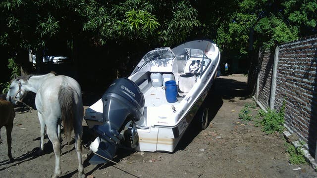 Una lancha secuestrada a la banda narco de Itatí