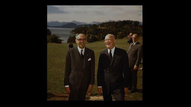 Dwight Eisenhower junto a Arturo Frondizi en 1960.