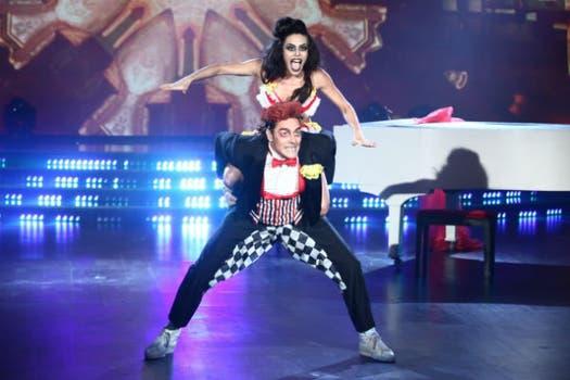 Matías Alé y su bailarina: tuvieron un máximo de 55 puntos en el Pop latino; un mínimo de 30 en el Electrodance. Foto: Ideas del Sur