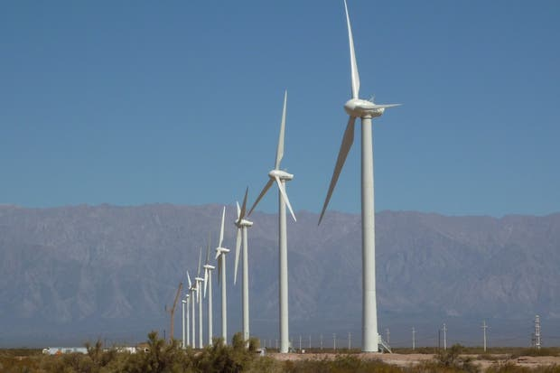 Un parque eólico en La Rioja. Foto: Rodrigo Herrera Vegas