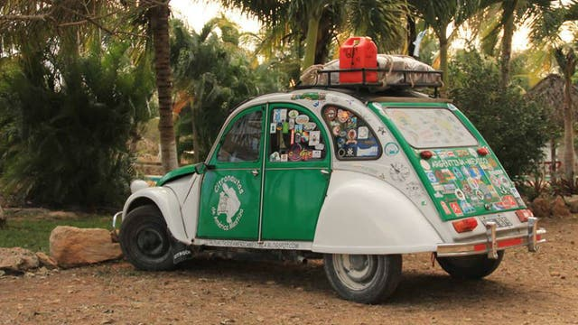 El Citroën 3 CV de la pareja cordobesa