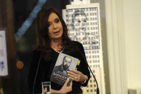 La Presidenta Cristina Fernández este miércoles al anunciar el aumento de la AUH