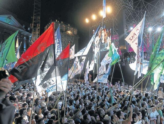 El festejo oficial en el aniversario de la recuperación democrática