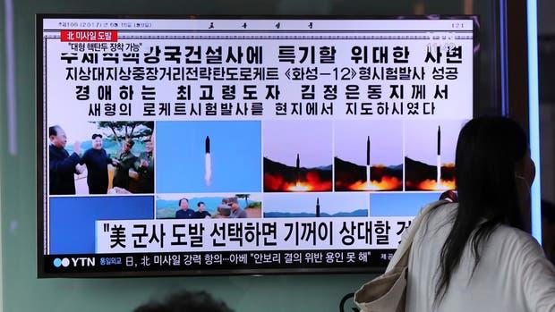 Corea del Norte disparó un misil, ayer