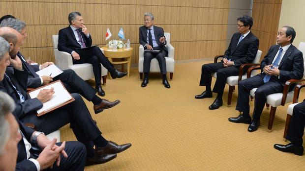 El presidente Mauricio Macri se reunió hoy con CEOs de empresas japonesas