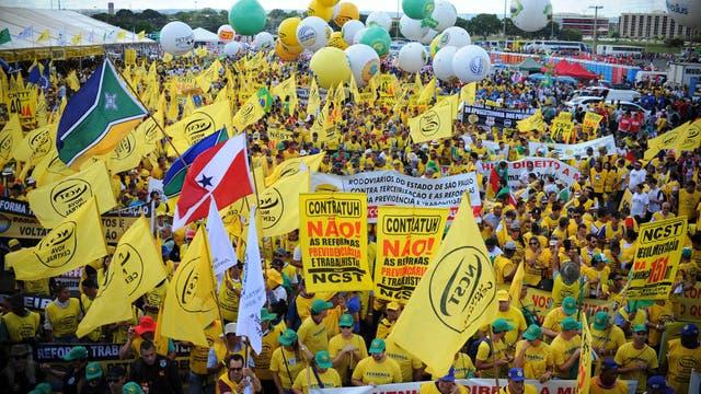 Protestas en Brasilia en contra del gobierno de Michel Temer
