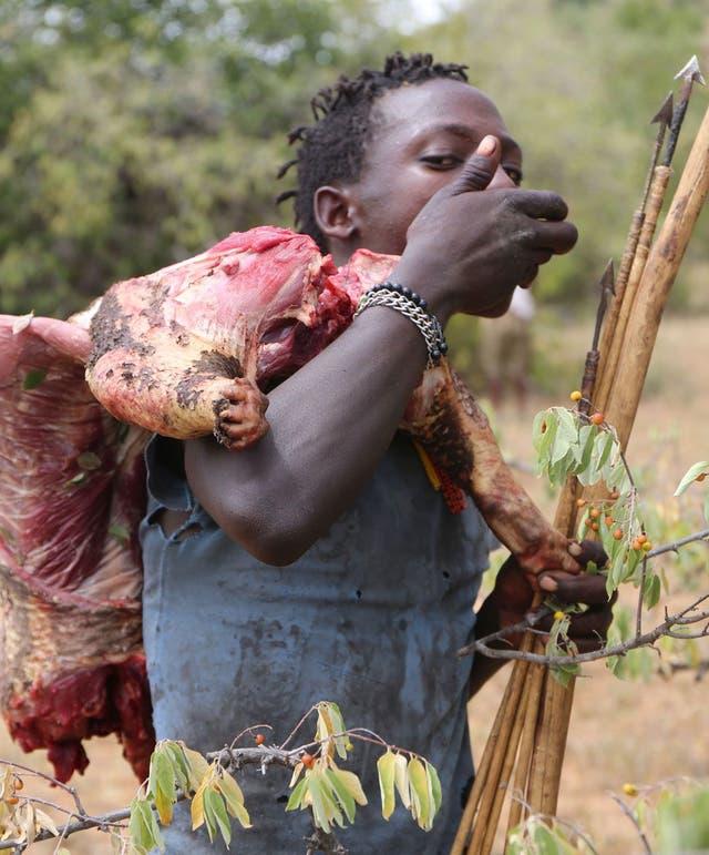 ¿Porqué cultivar si hay comida por todas partes?, se preguntan los hazda.