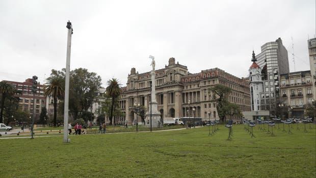 La Plaza Lavalle recuperó su esplendor