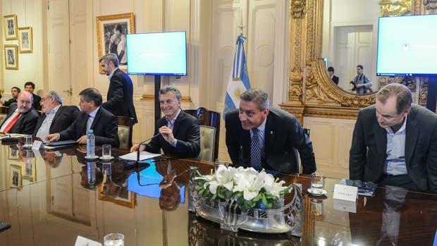 Mauricio Macri reunido con gobernadores en Casa Rosada