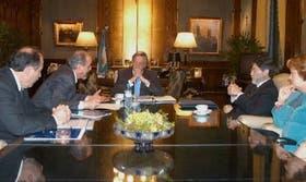 Carlos Tomada se reunió ayer con Kirchner, luego de disertar en la Bolsa