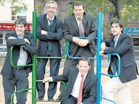 De izquierda a derecha: Marcos Peña, Mario Meoni, Juan Carlos Morán, Fernando Gray y Adrián Pérez