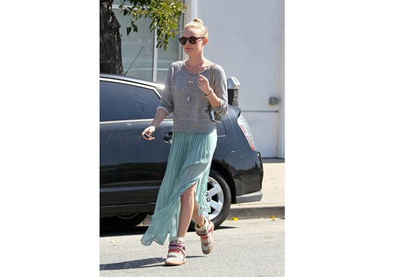 Kate Bosworth las combina con polleras para una salida de tarde. Foto: blogs.glamour.es