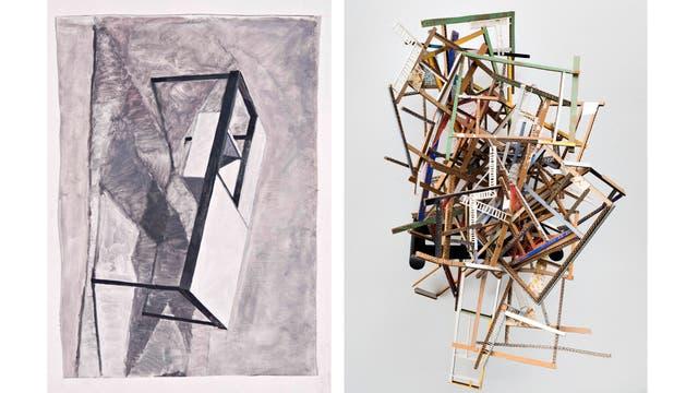 Obras de Amadeo Azar y de Ana Tiscornia, en diálogo