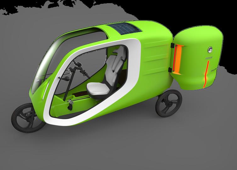 La versión Cargo del triciclo GreenGoMilla