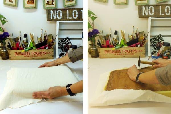 Aprend a retapizar unas banquetas revista ohlal - Clavos para tapizar ...