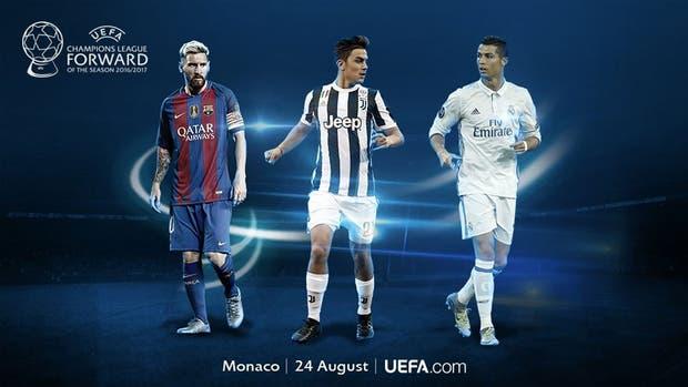 Messi, Dybala y Cristiano, los candidatos
