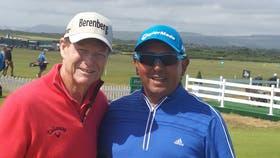 Molina recibió la felicitación de Tom Watson