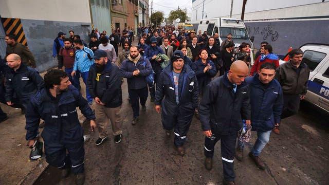 Los trabajadores de Pepsico luego del violento desalojo