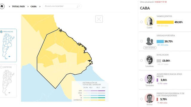 Resultados elecciones 2017: los barrios en los que Carrió sacó mayor ventaja