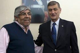 Binner junto a Hugo Moyano