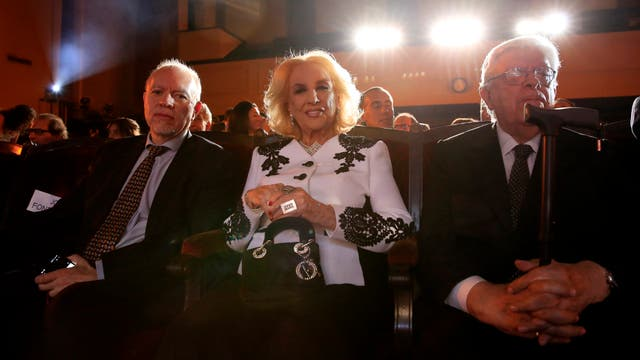 Jorge Fernández Díaz junto a Mirtha Legrand