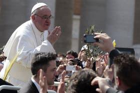 El Papa apareció en público por última vez en la misa de Domingo de Ramos