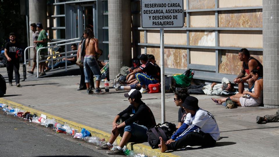 Tras el recital del Indio Solari la ciudad de Olavarría quedó colapsada. Foto: LA NACION / Mauro V. Rizzi / Enviado especial