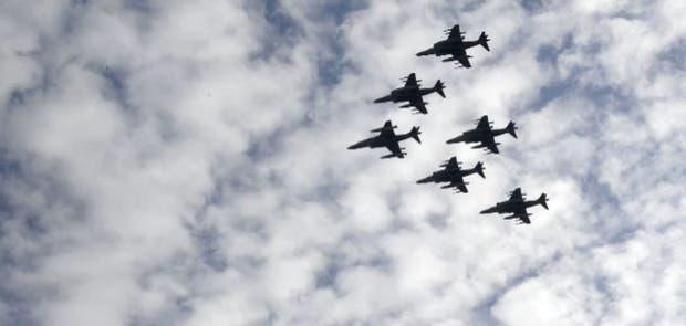 Se estrelló un avión militar en medio de los festejos por el Día Nacional de España