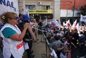 La última movilización de docentes bonaerenses fue en diciembre del año pasado.