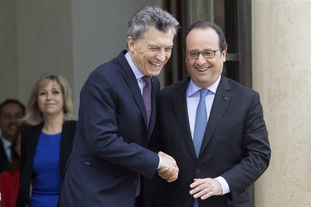 Macri y Hollande mostraron su buena sintonía en el Elíseo