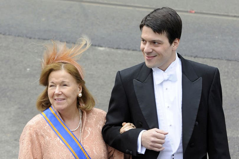La princesa Christina de Holanda y su hijo Bernardo. Foto: Reuters