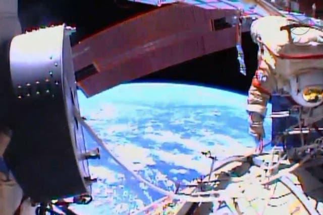 Los trabajos en la EEI son para conectar un nuevo laboratorio espacial