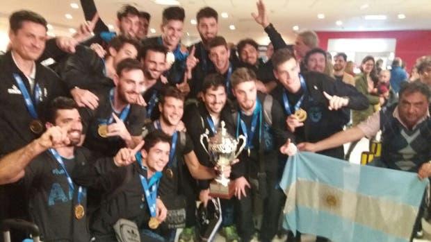 El seleccionado sub 23 campeón mundial de voleibol, en Ezeiza