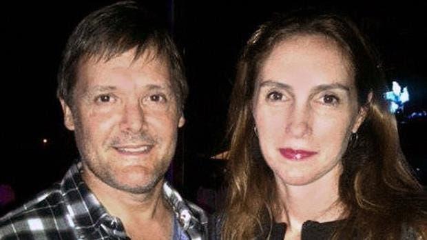El asesino, Fernando Farré, junto a su entonces mujer Claudia Schaefer, a quien mató en 2015