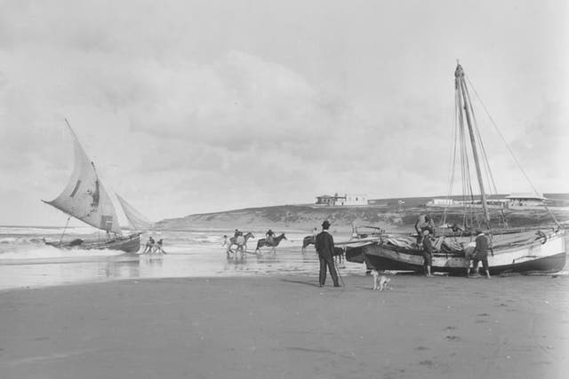 Harry Grant Olds 404. Lanchas pescadoras, Mar del Plata,S.A, (circa 1901). Foto gentileza FOLA