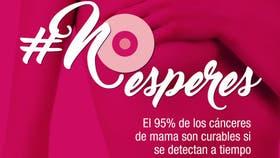 El cáncer de mama es curable en un 95 por ciento