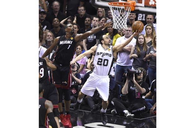 Los Spurs de Manu Ginóbili, nuevamente campeones de la NBA.  Foto:EFE