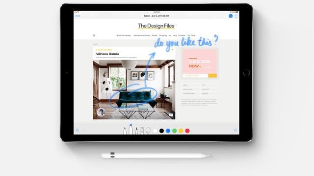 El iPad Pro suma herramientas para anotar documentos con el lápiz