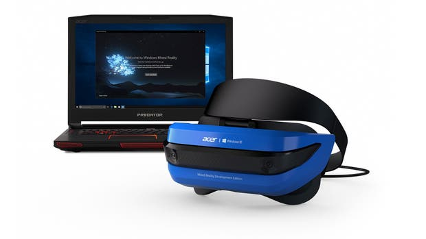 Una vista del visor Acer para el sistema de realidad mixta de Microsoft