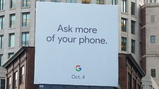 El cartel que puede verse en Boston promocionando un evento el 4 de octubre próximo
