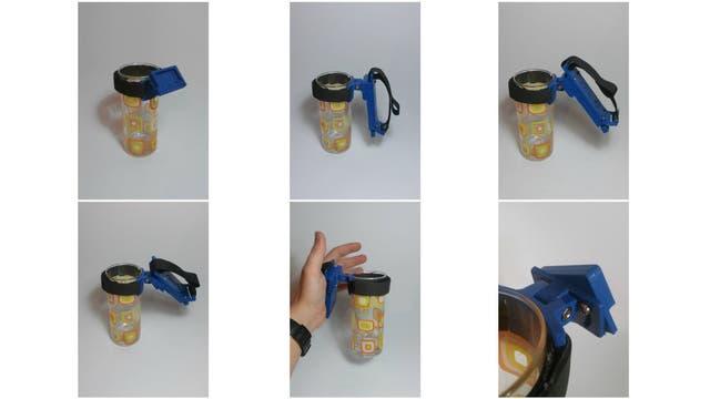 El diseño es de código abierto y permite usar un vaso, cubiertos, etcétera