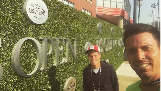 Juan Ignacio Chela y Diego Schwartzman en el US Open