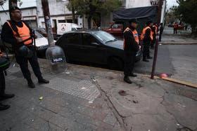 La vereda de la calle Guidi, el lugar donde recibió el disparo Sosa
