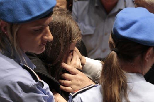 Amanda Knox rompió en llanto al conocer el veredicto. Foto: AFP