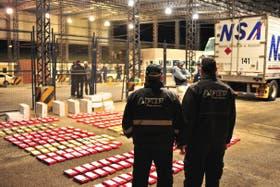 La droga fue detectada en tres operativos de la AFIP