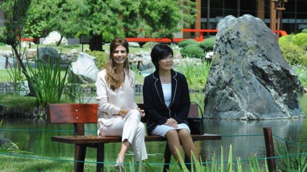 Juliana awada y la primera dama nipona compartieron un for Jardin japones precio 2016